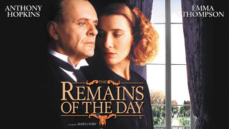 The Remains of the Day (1993) on Netflix in Italy